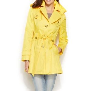 Via Spiga Bright Yellow Rain Jacket